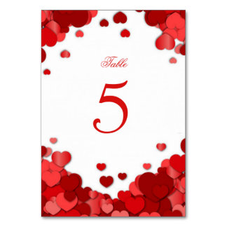 Red Hearts, Valentine's Day, Wedding, Custom Card