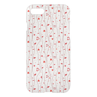 Red hearts vines iPhone 7 case