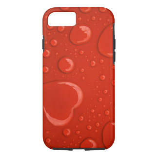 red hearts water droplets iPhone 7 case