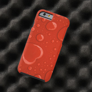 red hearts water droplets tough iPhone 6 case