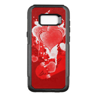 Red Hearts with Wings OtterBox Commuter Samsung Galaxy S8+ Case