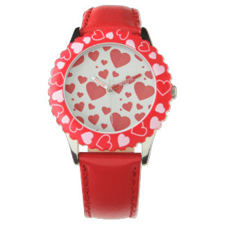 Red Hearts Wrist Watch