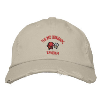 Red Hedgehog Tavern Embroidered Hat