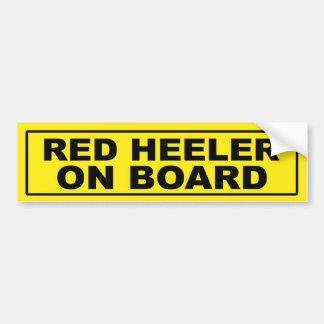 Red Heeler on Board Bumper Sticker