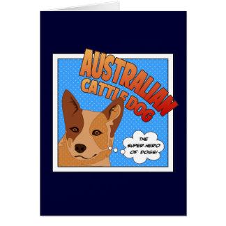 Red Heeler Super Hero Greeting Card