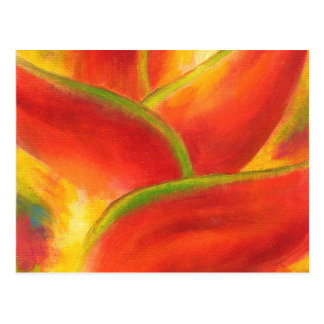 Red Heliconia Flower Art - Multi Postcard
