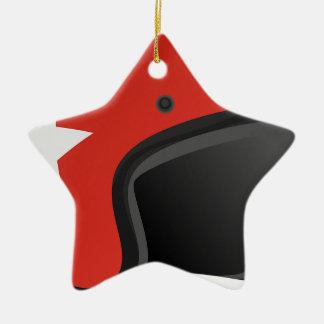 Red Helmet Ceramic Ornament
