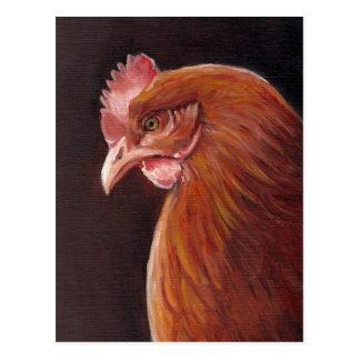 Red Hen Art Postcard