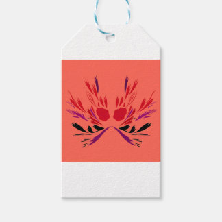 Red henna Tattoo ethno Gift Tags