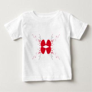 Red henna tattoo ethno on white baby T-Shirt
