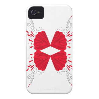 Red henna tattoo ethno on white iPhone 4 covers