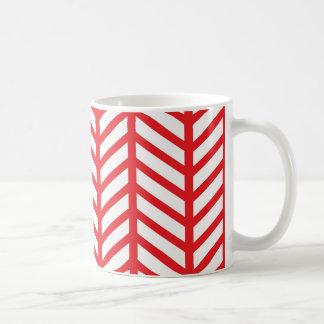 Red Herringbone Coffee Mug