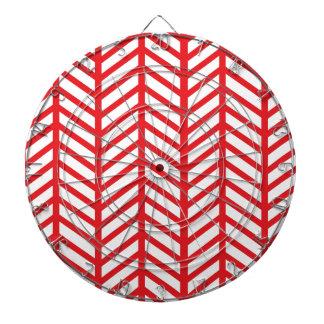 Red Herringbone Dart Board