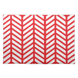 Red Herringbone Place Mats