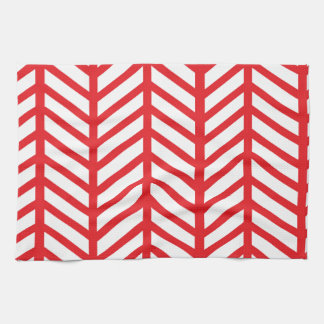 Red Herringbone Towel