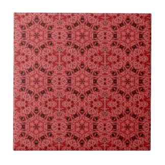 red hexagonals tile
