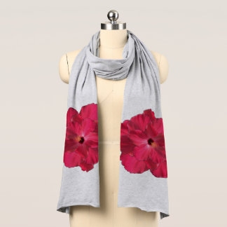 Red Hibiscus accented on Scarf