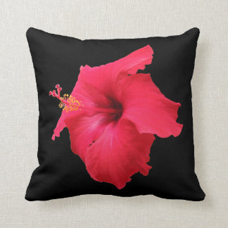 Red Hibiscus Cushion