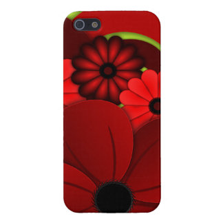 Red Hibiscus Floral iPhone 5 5S Case Savvy Glossy Case For iPhone 5/5S
