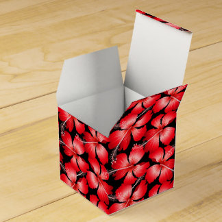 Red hibiscus flowers favour box