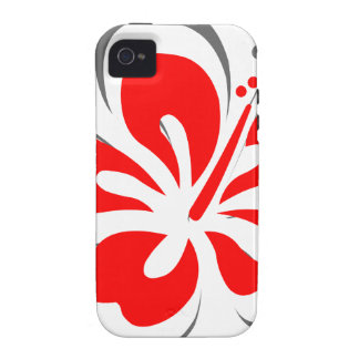 Red hibiscus Hawaii theme gifts Vibe iPhone 4 Cases