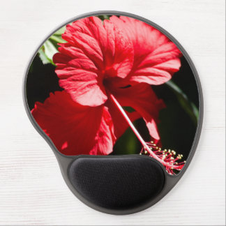 Red Hibiscus in the Sun Gel Mouse Pad