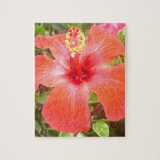 Red Hibiscus Jigsaw Puzzle