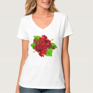 Red Hibiscus Mele Kalikimaka Christmas Shirts