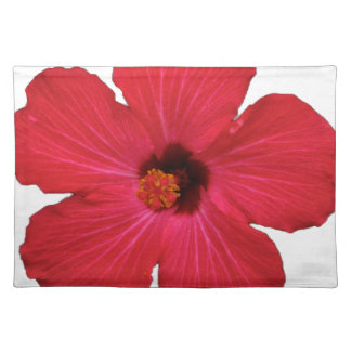 Red hibiscus placemat