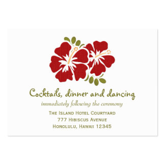Red Hibiscus Reception Enclosure Cards Pack Of Chubby Business Cards