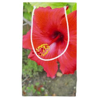 Red Hibiscus Yellow stigma Small Gift Bag