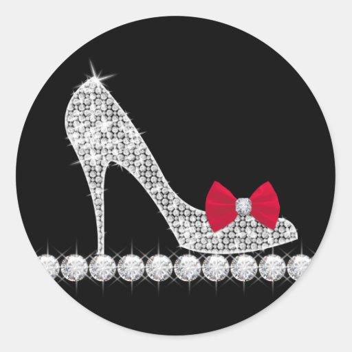Red High Heel Shoe Stickers