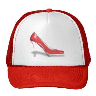 RED HIGH HEEL SHOE Trucker Hat Cap