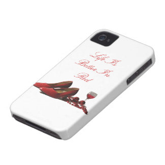 Red High Heel Shoes and Red Wine Case-Mate iPhone 4 Cases