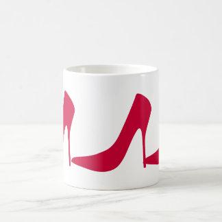 RED HIGH HEEL SHOES Classic White Mug