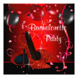 Red High Heel Shoes Red Bachelorette Party Custom Invitation