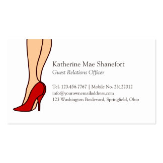 Red High Heels Stiletto Fashion Pack Of Standard Business Cards