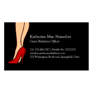 Red High Heels Stiletto Style Pack Of Standard Business Cards