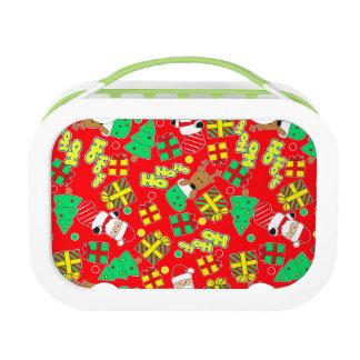 Red - Ho Ho Santa Lunch Box