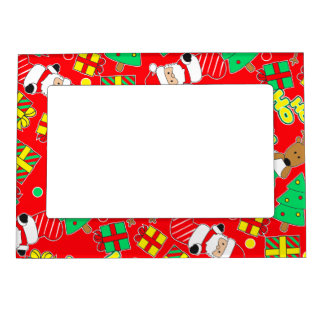 Red - Ho Ho Santa Magnetic Picture Frame