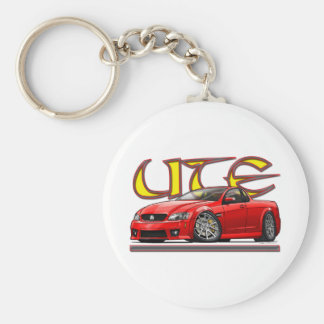 Red_Holden_UTE.png Basic Round Button Key Ring