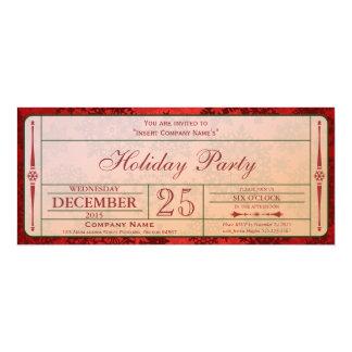 Red Holiday Company Party Invitation