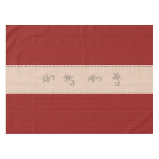 Red Holiday Stripe Candy Cane Christmas Tablecloth