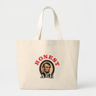 red honest abe art large tote bag