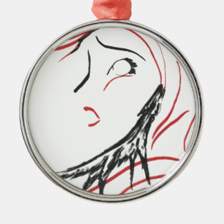 Red Hood & Wolf Silver-Colored Round Decoration