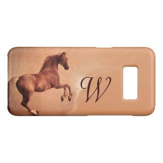 RED HORSE Antique Pink Monogram Case-Mate Samsung Galaxy S8 Case
