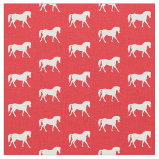 Red Horse Fabric, Girl's Fabric, Animal Fabric