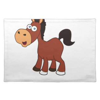 red horse pony placemat