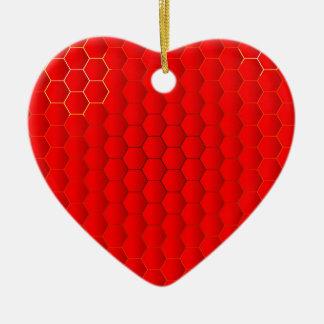 Red Hot Background Ceramic Ornament