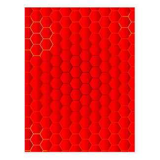 Red Hot Background Postcard